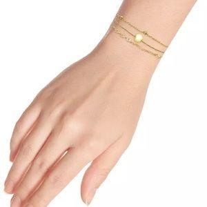 3-Pc. Set Chain Link Bracelets 18k Gold Plated NWT